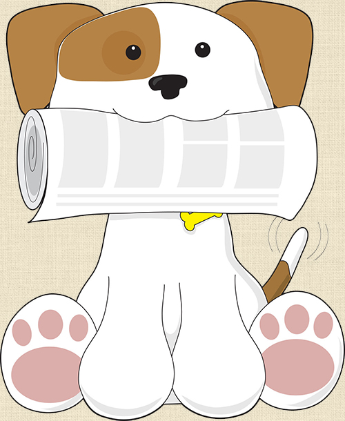 Dog With Newsletter